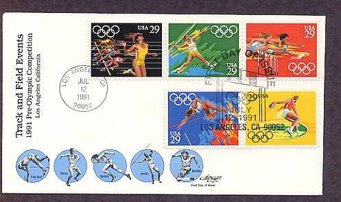 1992 Summer Olympics, Pole Vault, Discus, Women's Sprints, Javelin, Women's Hurdles, First Issue USA