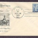 WWII, Honoring US Navy, Sailors, U.S.S. Iowa of the Third Fleet, 1945 Annapolis, First Issue USA