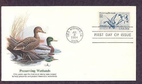 Preserving Wetlands, Mallard Ducks, First Issue USA