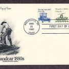Railroad Handcar 1880s, Transportation, AM First Issue USA