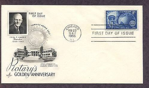Rotary International Clubs, 1955 First Issue, 50th Anniversary USA