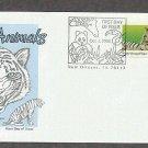 Wild Animals, White Bengal Tiger, Panthera tigris, First Issue USA