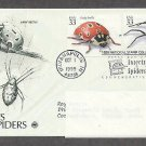 Insects and Spiders, Lady Beetle, Yellow Garden Spider, PCS, Addressed, First Issue USA