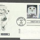 Arctic Animals, Snowy Owl, Polar Bear, PCS, Addressed, First Issue USA
