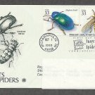 Insects and Spiders, Dogbane Beetle, Flower Fly, PCS, Addressed, First Issue USA