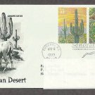Sonoran Desert, Saguaro Cactus, Desert Mule Deer, PCS Addressed, First Issue USA