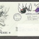 Insects and Spiders, Black Widow Spider, Elderberry Longhorn PCS, Addressed, First Issue USA