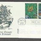 Pacific Coast Rain Forest, Dwarf Oregongrape, Harlequin Duck, PCS, Addressed, First Issue USA