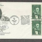 Beardless Abraham Lincoln, Log Cabin 1959 Hodgenville, Kentucky First Issue USA