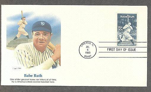 Babe Ruth Baseball Legend, Yankees, First Issue USA