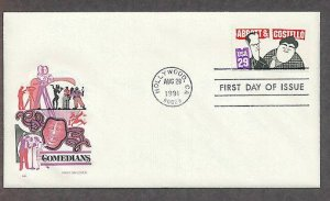 Abbott and Costello, Al Hirschfield, HF 1991 First Issue FDC USA