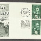 Beardless Abraham Lincoln, Log Cabin 1959 Hodgenville, Kentucky FW First Issue USA