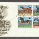 Horses, Appaloosa, Quarter Horse, Morgan, Saddlebred, AC First Issue USA