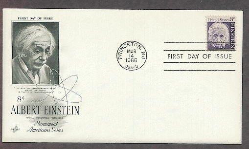 Honoring Albert Einstein, Nobel Prize Physicist, Princeton, Relativity Science 1966 First Issue