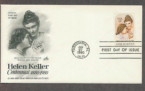 Blind Deaf Helen Keller, Anne Sullivan, AC First Issue USA