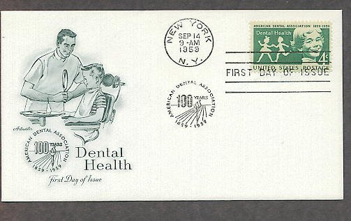 American Dental Association, Dentist, Dental Health, 1959 First Issue USA