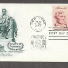 US President Abraham Lincoln Sesquicentennial, Memorial, 1959 First Issue USA