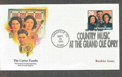 The Carter Family, Grand Ole Opre, Country Music, Nashville First Issue USA