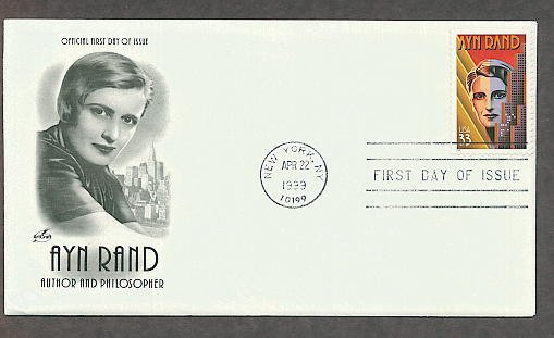 Honoring Writer Philosopher Ayn Rand, Objectivism Philosopher, First Issue USA