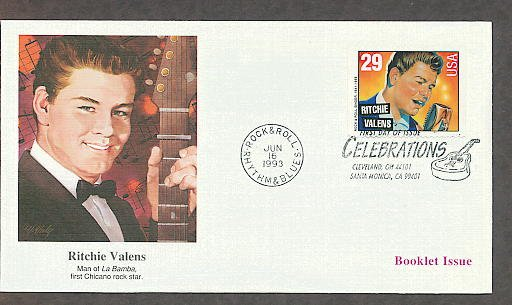 Honoring Rock and Roll Singer, Ritchie Valens, First Chicano Rock Star, First Issue USA