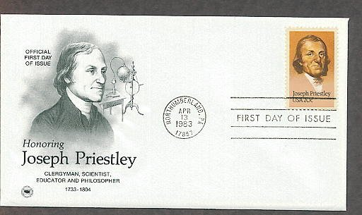 Honoring Joseph Priestley, First to Isolate Oxygen, Chemist, PCS First Issue USA!