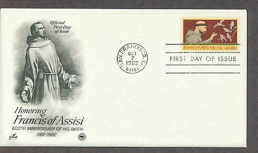 Honoring St. Francis of Assisi, Patron Saint of Animals and the Environment, PCS First Issue USA!