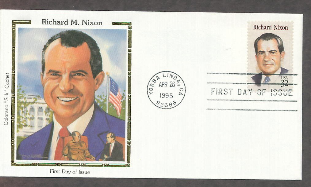 Richard Nixon, 37th U.S. President Silk First Issue USA!