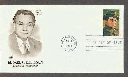 Honoring Actor Hollywood Legend Edward G. Robinson, First Issue USA!