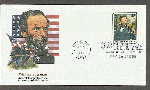 Civil War General William T. Sherman Gettysburg FW First Issue USA!