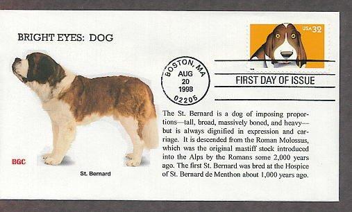 Saint Bernard Dog, Bright Eyes, First Issue USA!