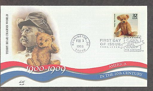 Teddy Bear Created, 1900s First Day of Issue USA!