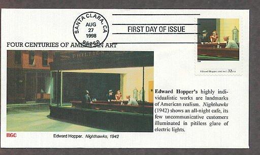 American Art, Edward Hopper, Nighthawks, BG First Issue USA!