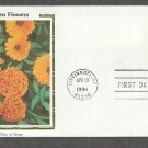 Garden Flowers, Marigold, Colorano Silk, First Issue USA!