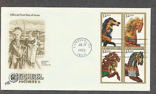 Carousel Horses, Golden Age, Folk Art, Merry Go Round, AC First Issue USA!