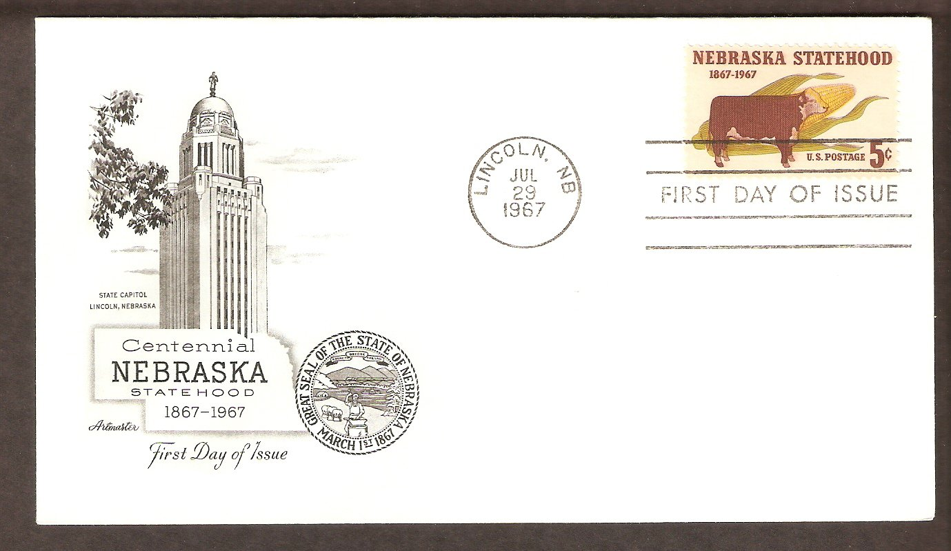 Nebraska Statehood Centennia, Hereford Cattle, First Issue USA