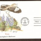 Texas Birds and Flowers, Mockingbird and Bluebonnet, FW First Issue USA