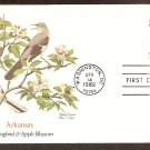 Arkansas Birds and Flowers, Mockingbird, Apple Blossom, FW First Issue USA