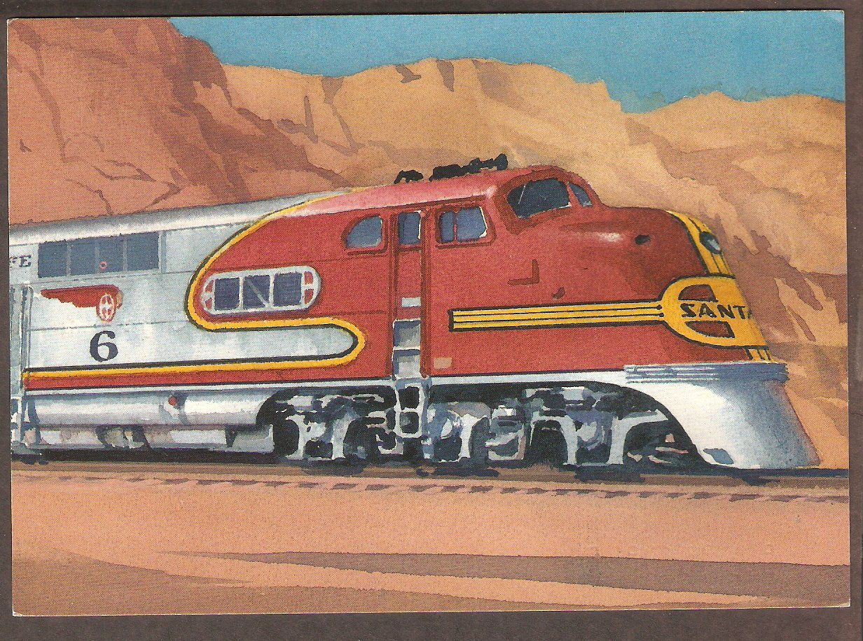 Super Chief,  Warbonnet, Locomotive, Santa Fe Railroad First Issue FDC USA