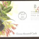 Tropical Birds, Green-throated Carib Hummingbird, Puerto Rico, First Issue USA