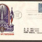 Texas Satehood Centennial, Austin, Staehle 1945 First Day of Issue USA