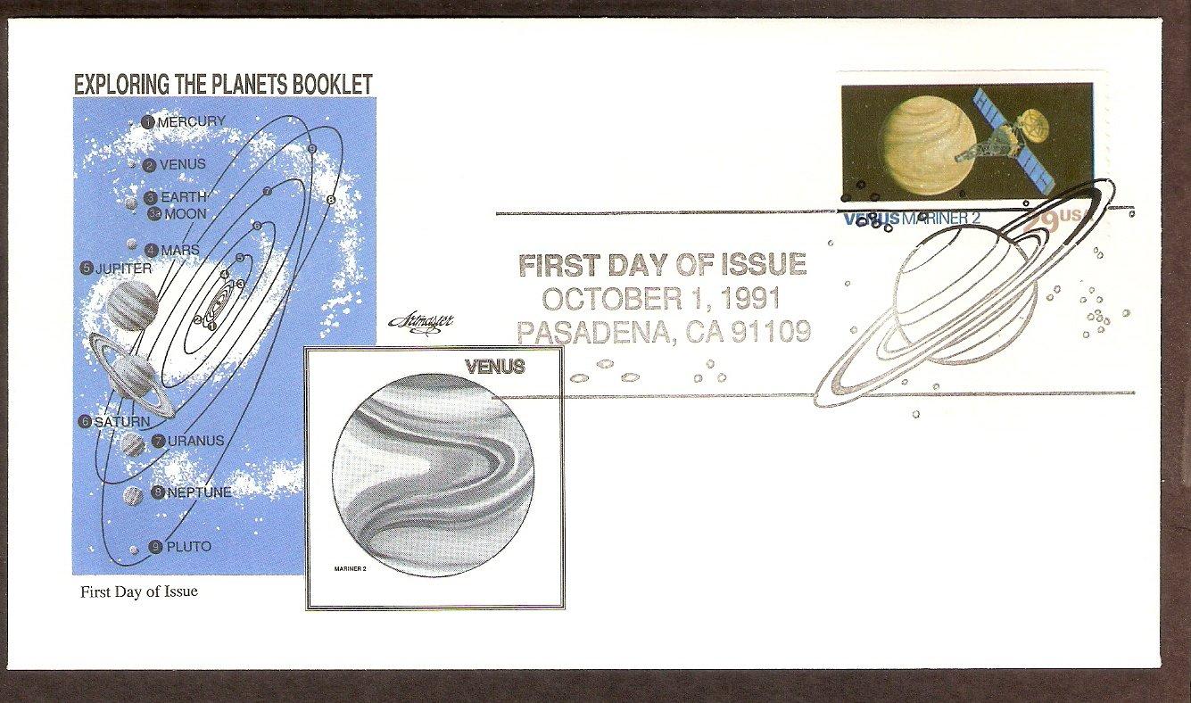 NASA Exploring the Planets, Mariner 2, Venus, 1991 First Issue USA