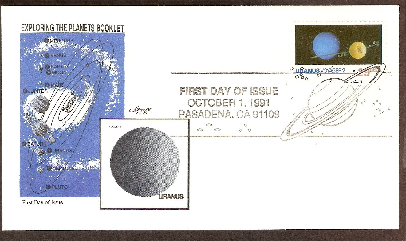 NASA Exploring the Planets, Voyager 2, Uranus, 1991 First Issue USA