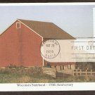 Wisconsin Statehood, 150th Anniversary, Farm Red Barn, Silo First Issue USA