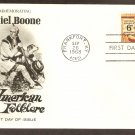 American Folklore, Honoring Daniel Boone, FW First Issue FDC USA
