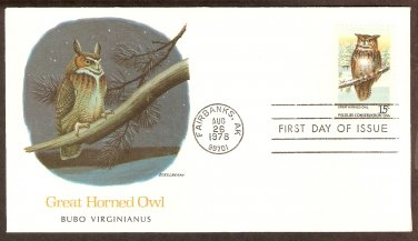 American Owls, Great Horned Owl, Bubo Virginianus, FW First Issue USA