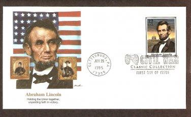 Civil War, President Abraham Lincoln, Gettysburg, First Issue USA