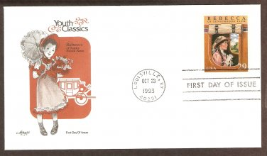 "Youth Classics, ""Rebecca of Sunnybrook Farm"" by Kate Douglas Wiggin First Issue, FDC, USA"