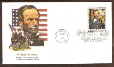 Civil War General William T. Sherman Gettysburg FW First Issue USA!