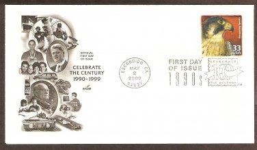 Celebrating the Century, 1990s, Recovering Species, Peregrine Falcon, First Issue USA