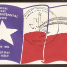 Texas Sesquicentennial, San Jancinto Battleground, Silver Spur 1986 Event Cover